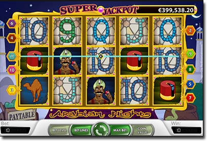 Arabian Nights progressive jackpot slot by NetEnt