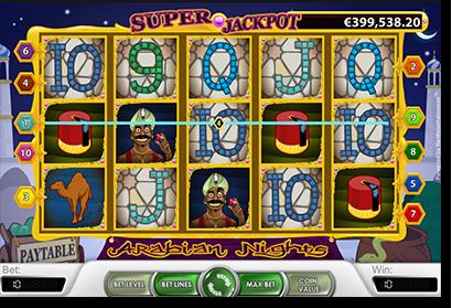Arabian Nights progressive jackpot slot by NetEnt