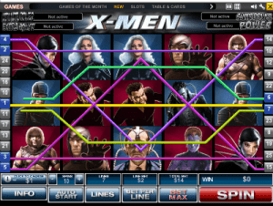 X-Men online slots by Playtech