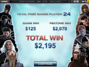 X-Men slots by Playtech special features