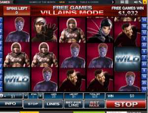 X-Men by Playtech slots - villains mode