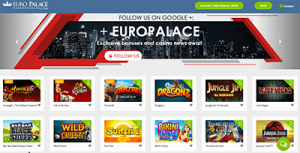 Euro Palace high-stakes casino website