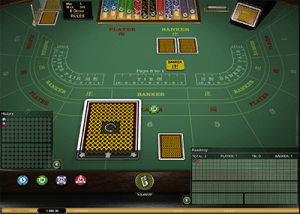 Baccarat Gold by Microgaming casino software