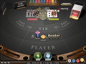 Baccarat Pro by NetEnt casino gaming software