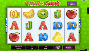 Fruit vs Candy online slots by Microgaming software