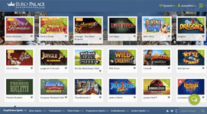 Euro Palace online casino website for Germans
