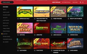 Guts.com online casino games lobby