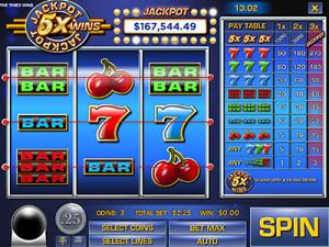 Jackpot 5X Wins online slots