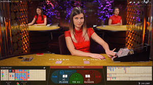 Live dealer punto banco games online