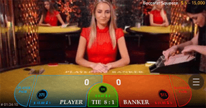 Mobile live dealer baccarat by Evolution Gaming