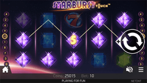 Mobile online slots Starburst by NetEnt
