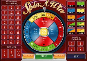 Spin a Win casual casino games by Playtech