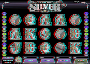 Sterling Silver 3D online slots by Microgaming