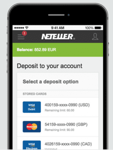 Neteller mobile casino website deposit option