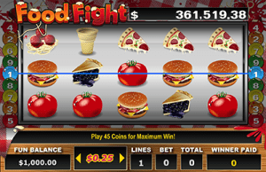 Food Fight video slots by RTG