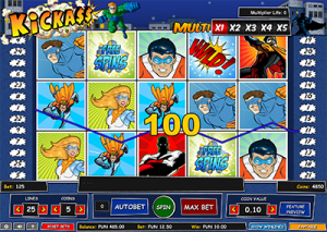 Kickass online slots by 1x2Gaming