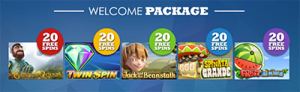 Slots Million online casino welcome package