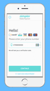 Zimpler mobile payments