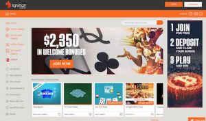Ignition Casino online browser-based interface